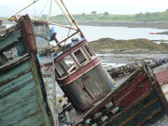 Decaying boats near Salen, on the Isle of Mull