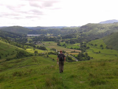 Going down hill from Seat Sandal, towards Grasmere