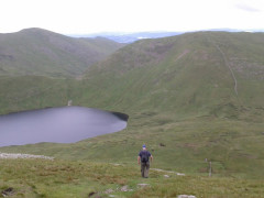 Seat Sandal and Grisedale Tarn, from the side of Dollywagon Pike