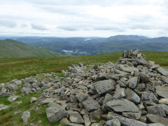 The summit cairn at the top of Seat Sandal