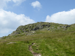 Approaching the summit of Stone Arthur