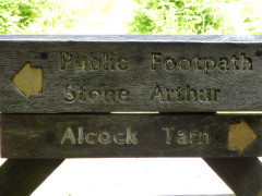 Sign post for Stone Arthur (and Alcock Tarn)