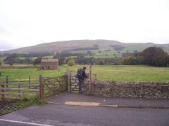 Squeezing through a small gate in Hawes
