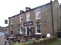 The Crown pub in Hawes, on the Pennine Way