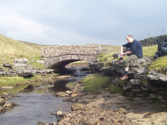 Sitting besides Ling Gill Bridge on the Pennine Way