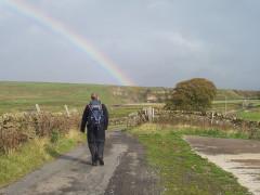 Rainbow over Sleightholme Moor