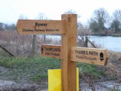 Signpost near Cholsey