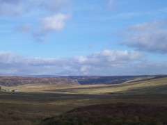 The moorland, viewed from Moss Shop on the Pennine Way