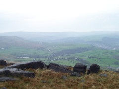 The view from Higher Moor, on the Pennine Way