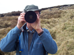 Mike pointing his camera lens at my camera on the Pennine Way