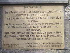 Plaque on the side of Top Withins