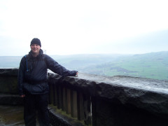 At the top of Stoodley Pike