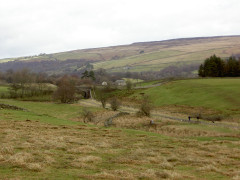 The South Tyne Trail, seen from the Pennine Way near Burnstones