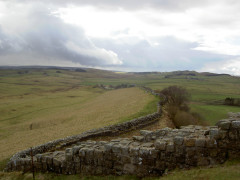 Pennine Way and Hadrian's Wall at Cawfield Crags