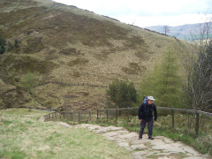 Climbing Jacob's Ladder on the Pennine Way