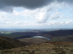 The view from Kinder Scout, looking towards Manchester