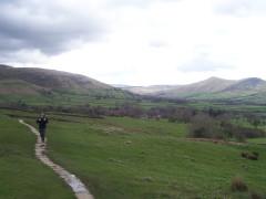 Slabbed path near Edale on the Pennine Way