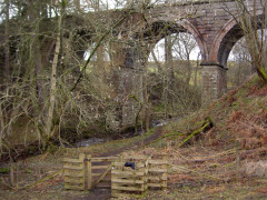The South Tyne Trail on an old railway viaduct, seen from the Pennine Way
