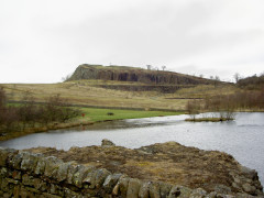Walltown Quarry and a glimpse of Hadrian's Wall