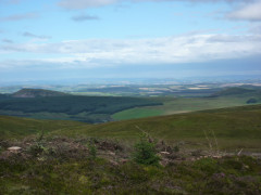 The view into Scotland from Ogre Hill