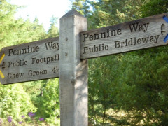 Pennine Way signpost at Byrness