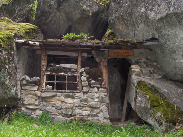 A small trolls house built in the rocks in Norway