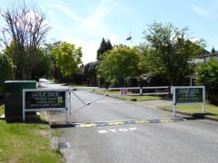 Barrier across the 'Golf Side' road