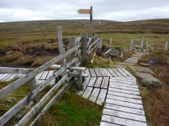 The turnoff for the Cheviot