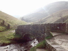 A bridge over a stream near Jacob's Ladder