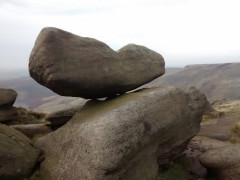 Large rock balanced on another on Kinder