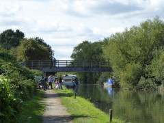 Fishing on the Slough branch of the Grand Union Canal