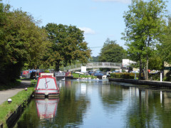 Narrowboats on the Grand Union Canal at Uxbridge