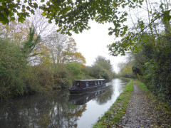 Narrowboat on the Grand Union Canal