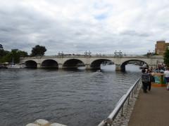 The River Thames and Kingston Bridge, at Kingston