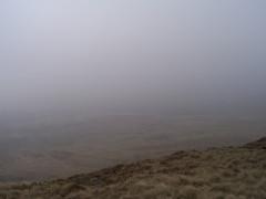 Pen-y-ghent in cloud