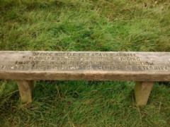 A bench with a poem on it, near Edale