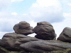 The Wain Stones on the Pennine Way
