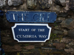 Small plaque in Ulverston at the start of the Cumbria Way
