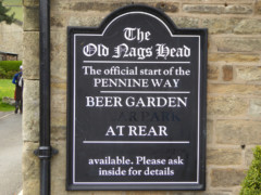 The Official Start of the Pennine Way, at the Old Nags Head