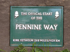 Official start of the Pennine Way