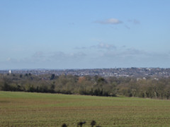 View from a hill near Chigwell