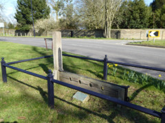 Stocks and whipping post at Havering-atte-Bower