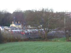 View of High Barnet station and sidings, from a high near the station