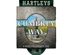 Pump clip design for Hartley's Cumbria Way beer