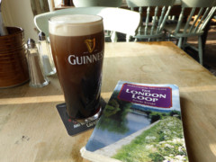 A pint of Guinness in the Royal Hotel, Purfleet
