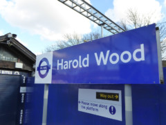 Harold Wood station sign