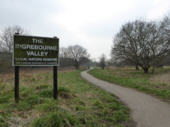 Sign for the Ingrebourne Valley Local Nature Reserve
