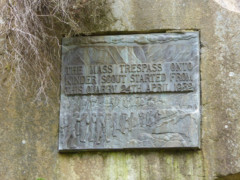 Plaque celebrating the place where the Kinder Trespass set off from