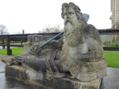 Statue of Father Thames at St John's Lock, Lechlade