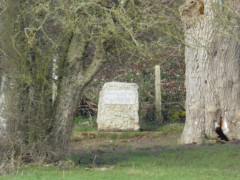 Stone marking the official source of the River Thames